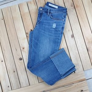 Pilcro Rolled Cropped Jeans Pants Size 27 Denim